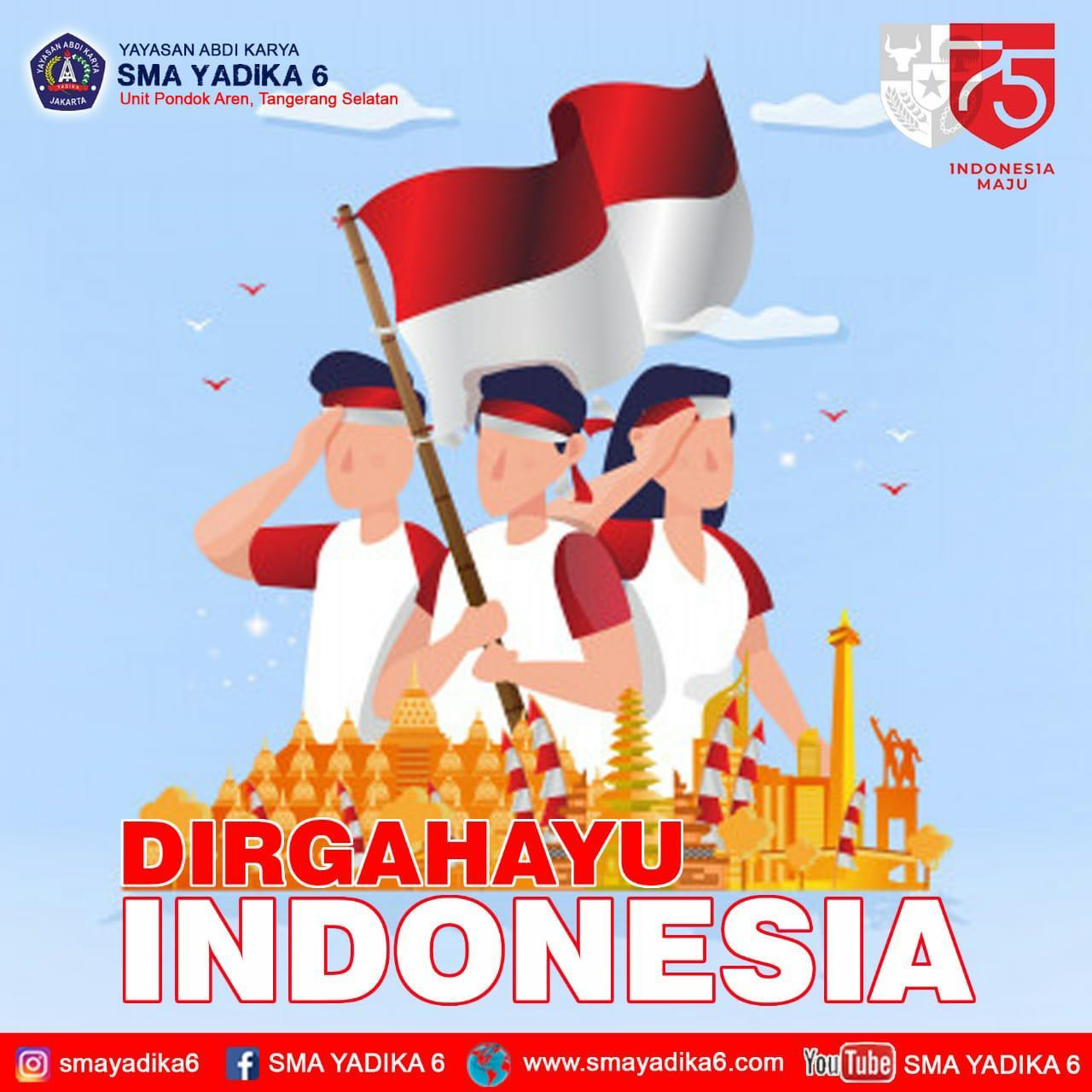 DIRGAHAYU REPUBLIK INDONESIA 75TH