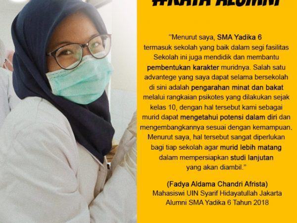 Fadya Aldama Chandri Afrista-Mahasiswa UIN Syarif Hidayatullah Jakarta