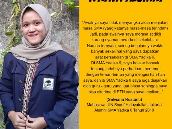 Selviana Rustanti - Mahasiswa UIN Syarif Hidayatullah Jakarta