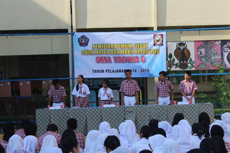 PEMILIHAN CALON KETUA DAN WAKIL OSIS SMA YADIKA 6 TAHUN PELAJARAN 2018/2019