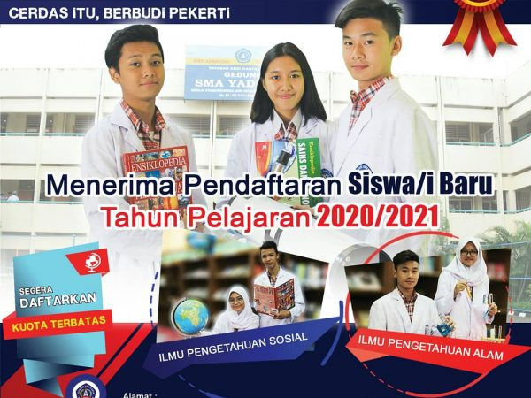 SMA YADIKA 6 TELAH MEMBUKA PENDAFTARAN SISWA BARU T.P. 2020/2021