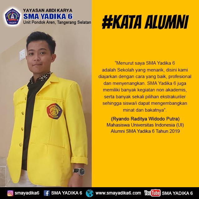 Ryando Raditya Widodo Putra-Mahasiswa Universitas Indonesia (UI)