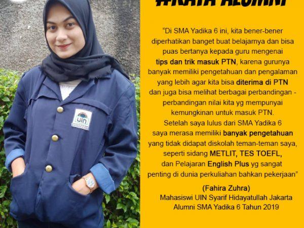 Fahira Zuhra-Mahasiswa UIN Syarif Hidayatullah Jakarta