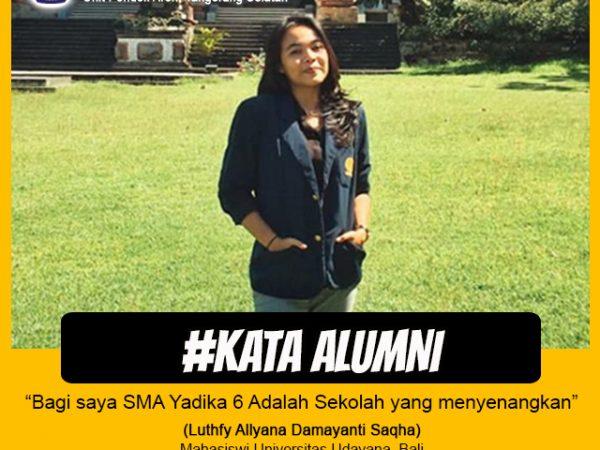 Lutfhfy Allyana Damayanti Saqha-Mahasiswa Universitas Udayana Bali