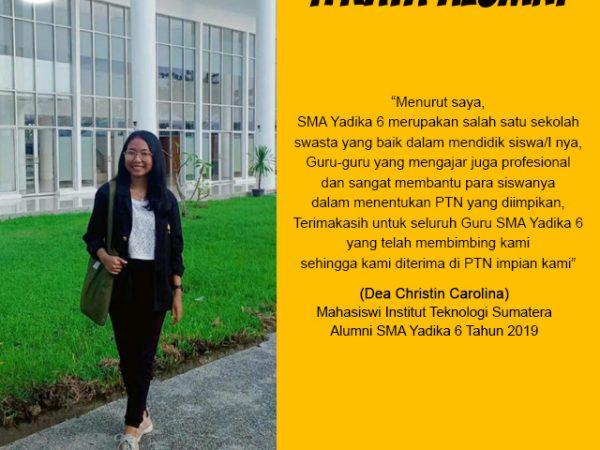Dea Christin Carolina-Mahasiswa Institut Teknologi Sumatera